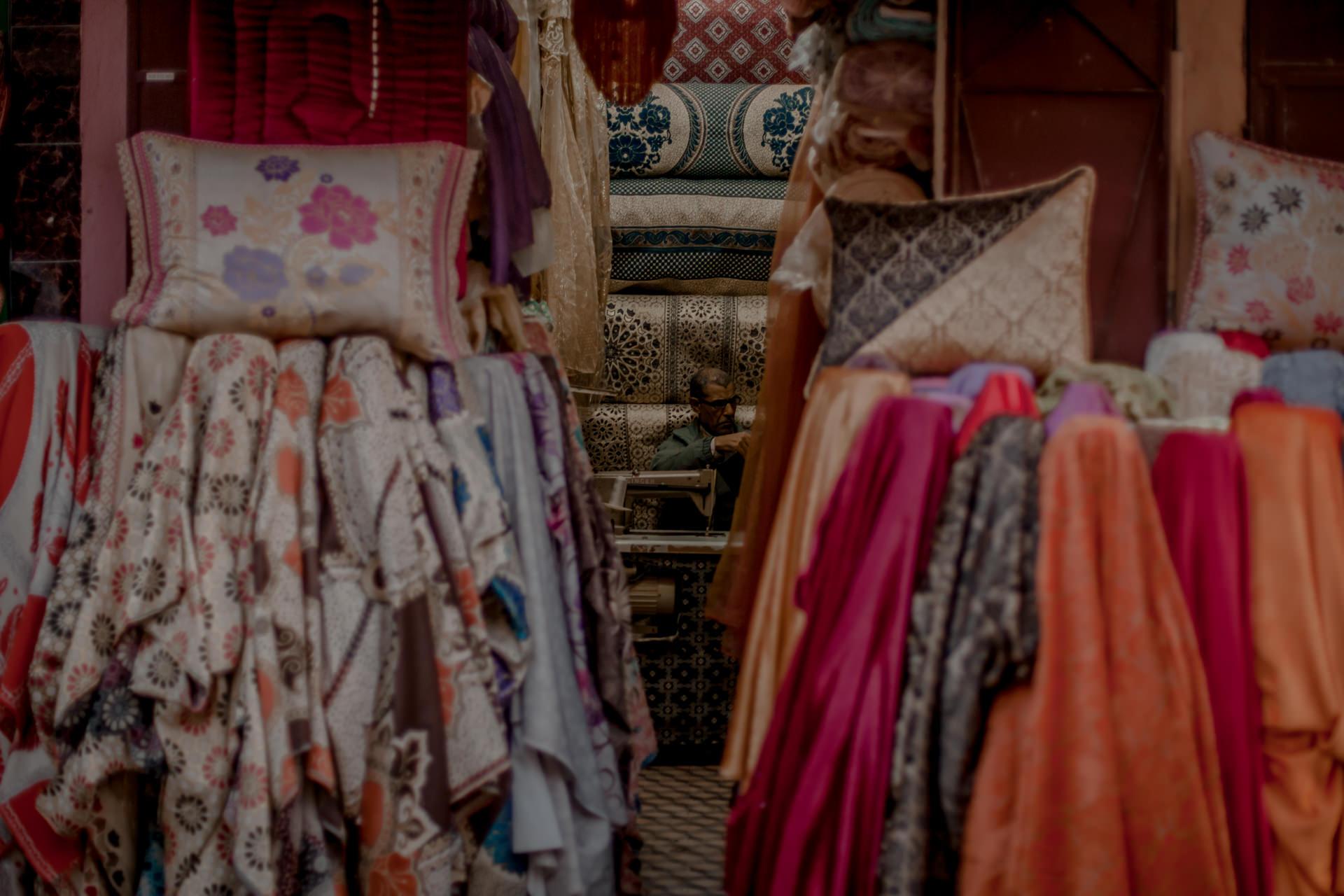 Suk w Marrakeszu