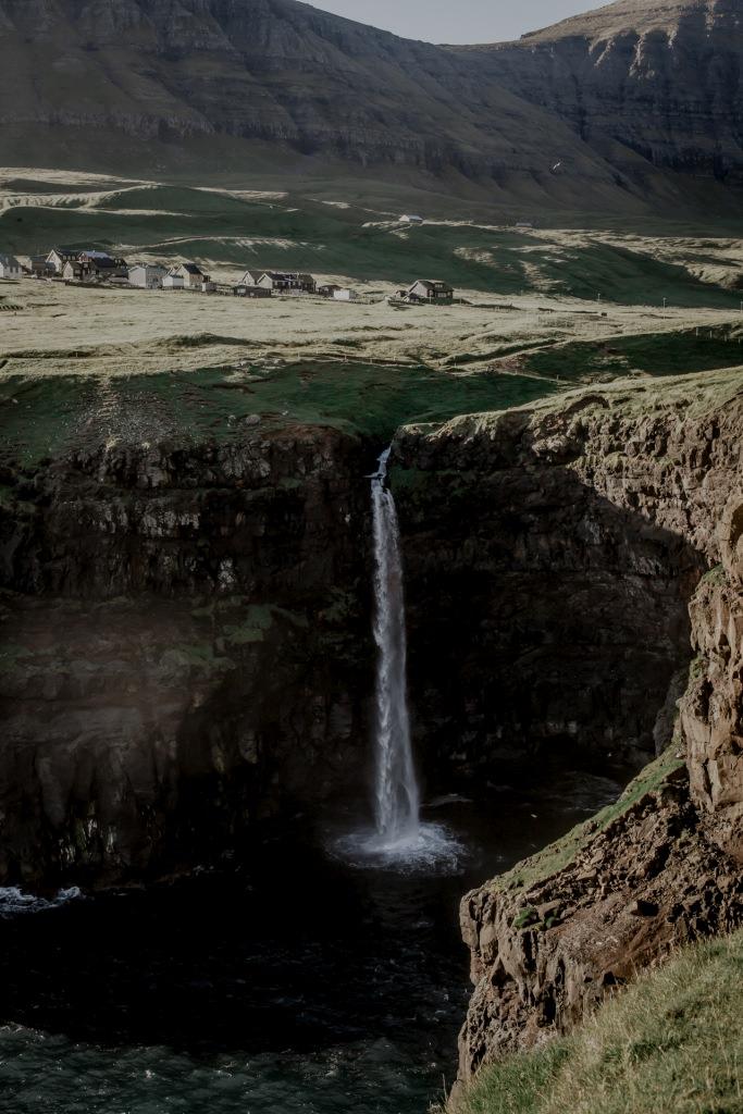 Wyspy Owcze - wodospady, wodospad Mulafossur