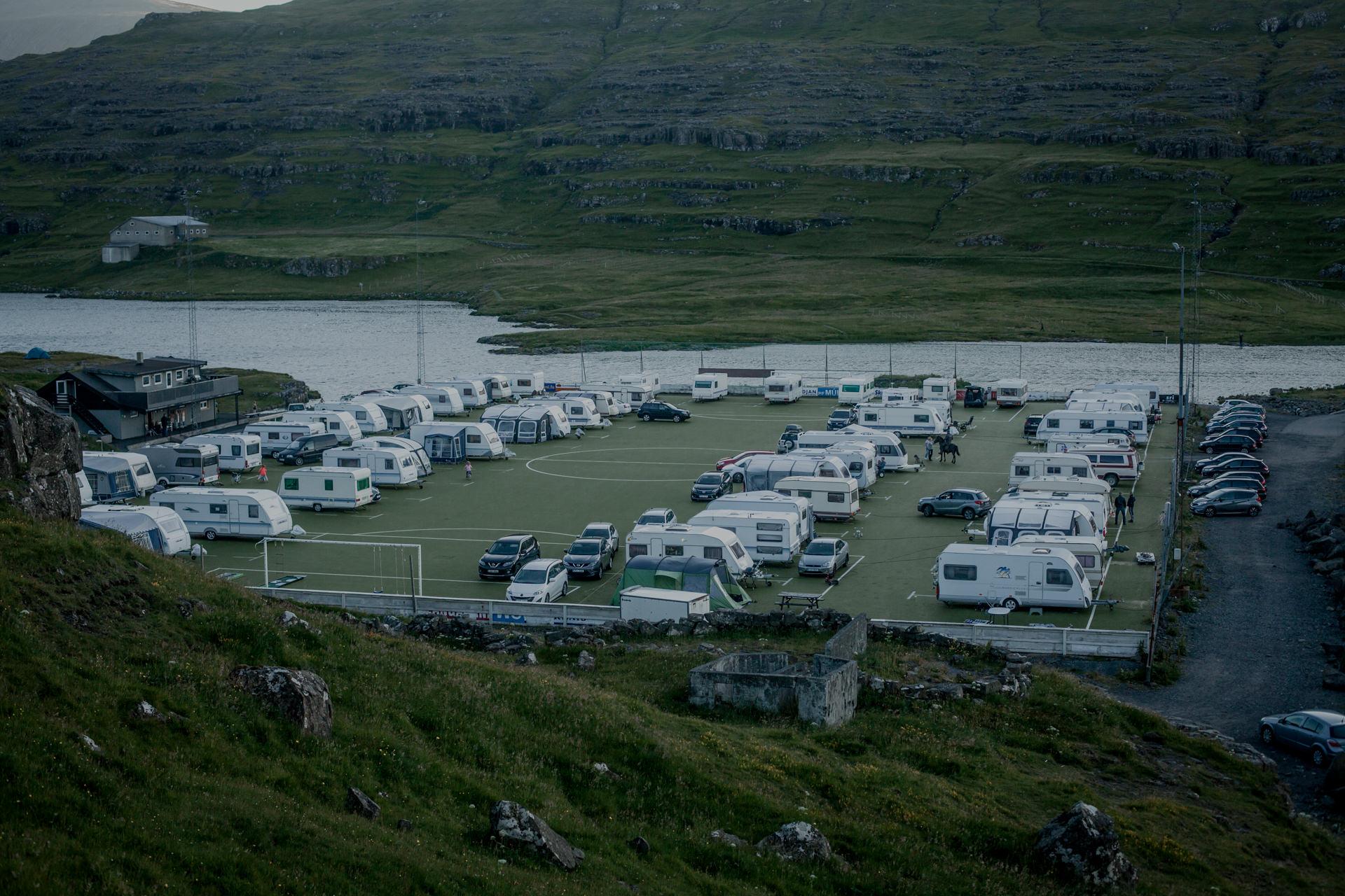 Wyspy Owcze - camping Eiði