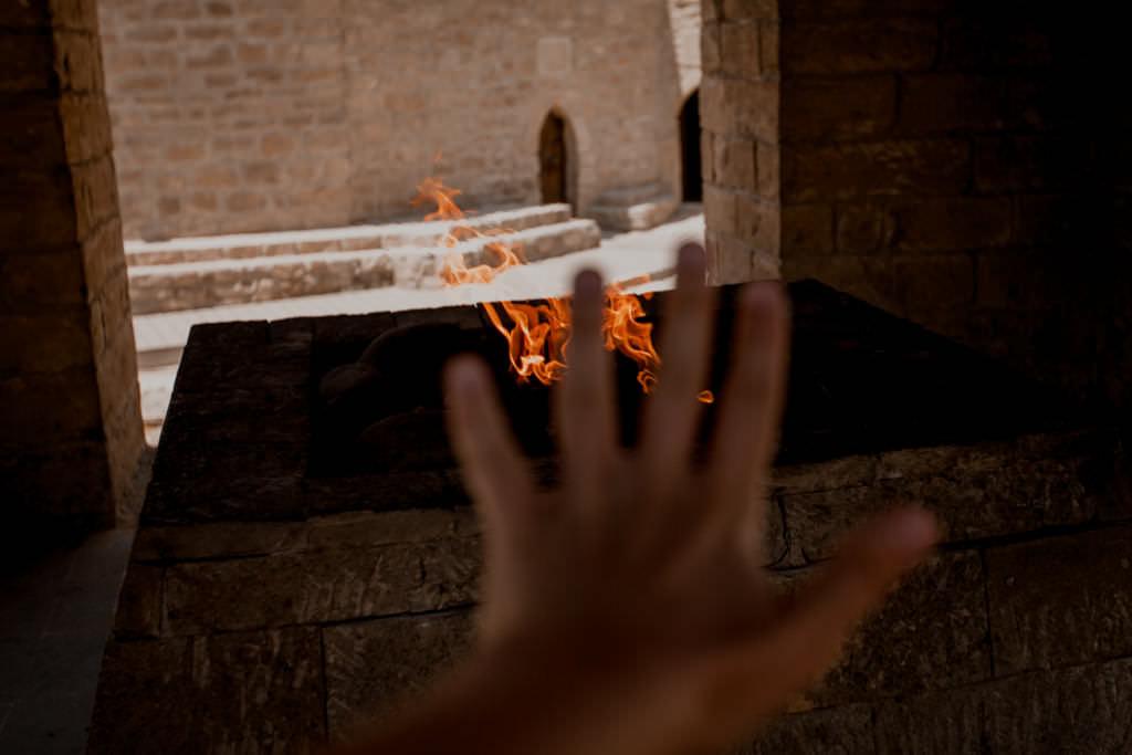 Świątynia ognia w stolicy Azerbejdżanu