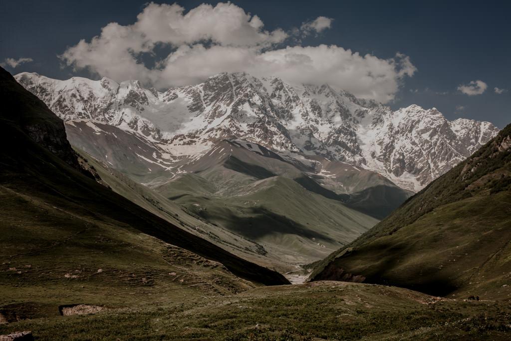Swanetia, góry Gruzji, Szchara szczyt gruziński