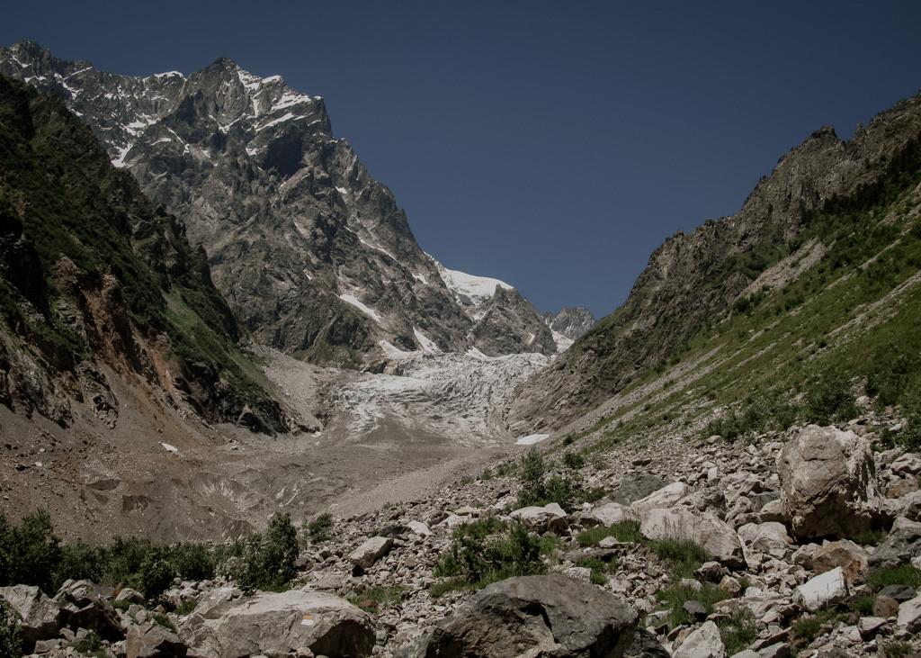 Szchara, trekking, lodowce w Gruzji