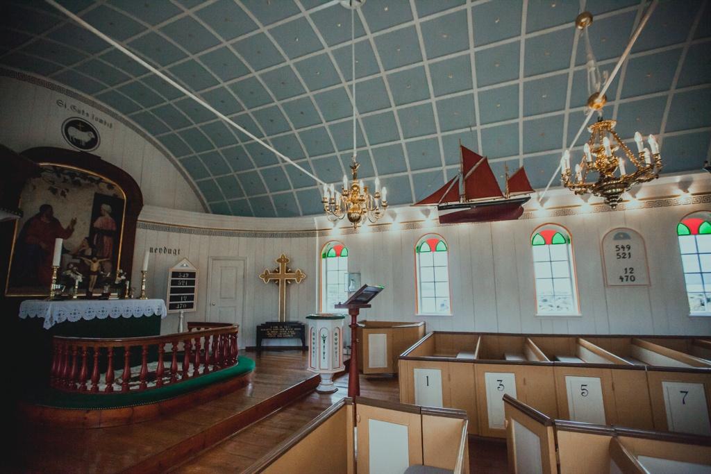 Kościół na Nolsoy na Wyspach Owczych