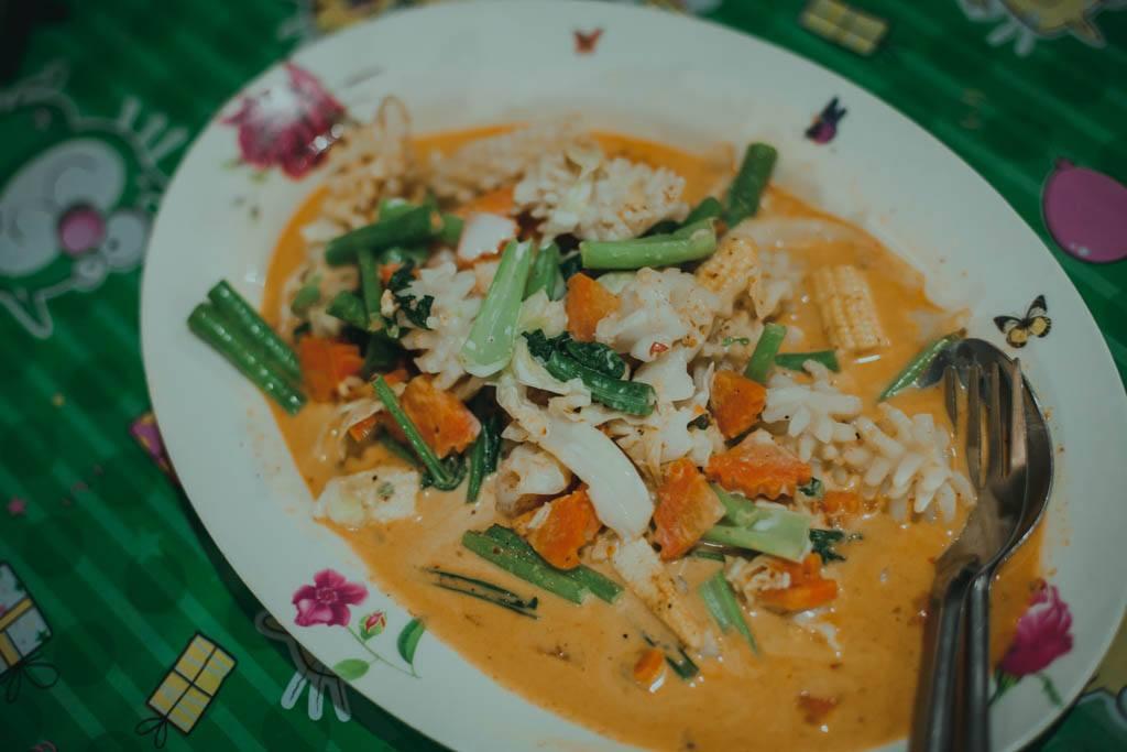 Railay Beach jedzenie
