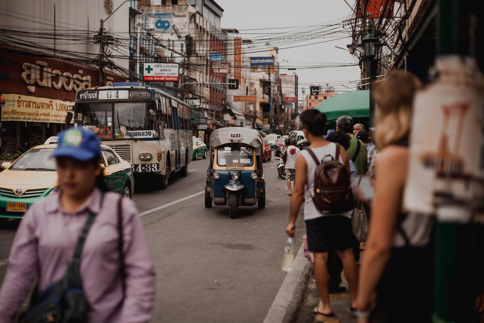 Tajlandia - Bangkok, informacje praktyczne, przewodnik, tuk tuk