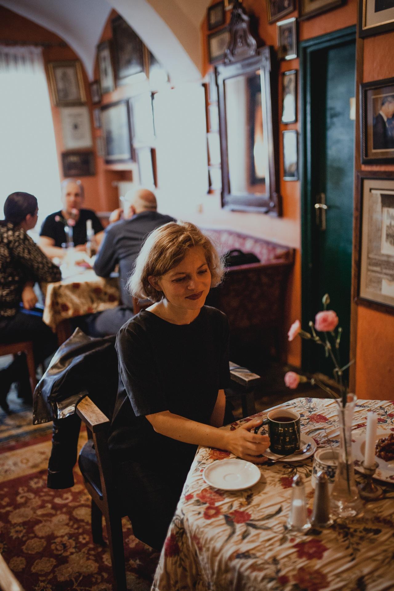 Kazimierz w Krakowie - kawiarnia