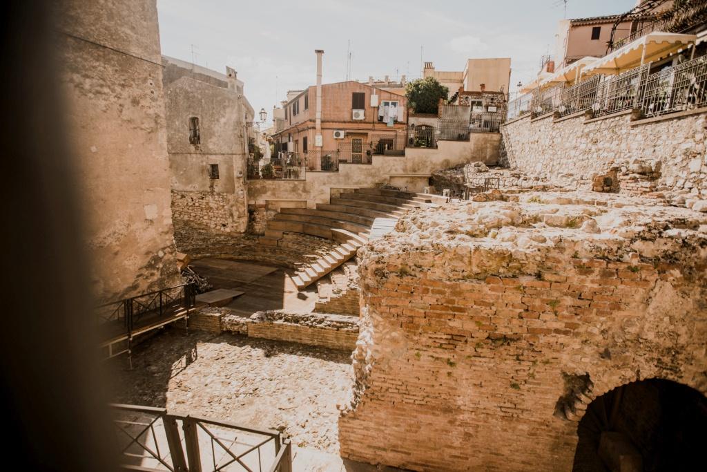 Taormina teatr rzymski na Sycylii