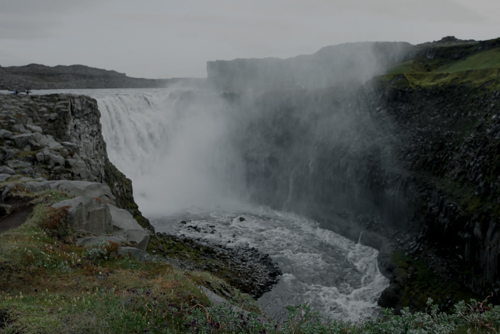 Wodospad Detifoss na Islandii