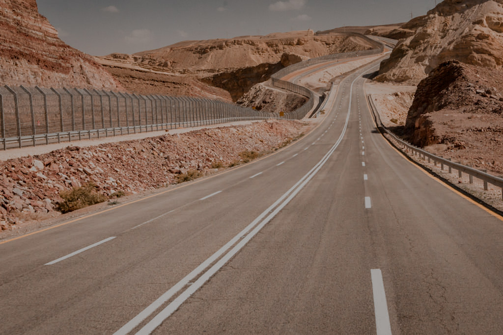 Israel road. Attractions close to Eilat