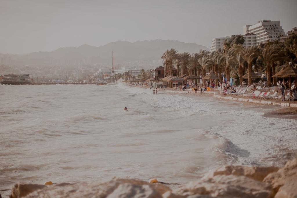 Plaże w Ejlacie. Morze Czerwone w Izraelu