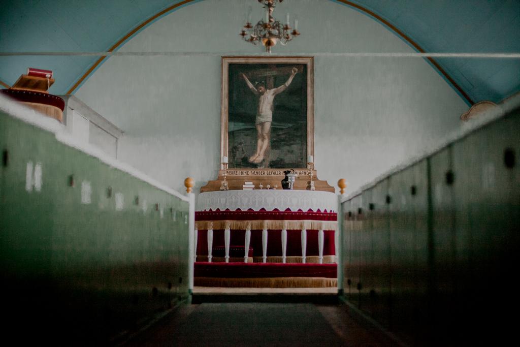 Mykines - kościół luterański na Wyspach Owczych