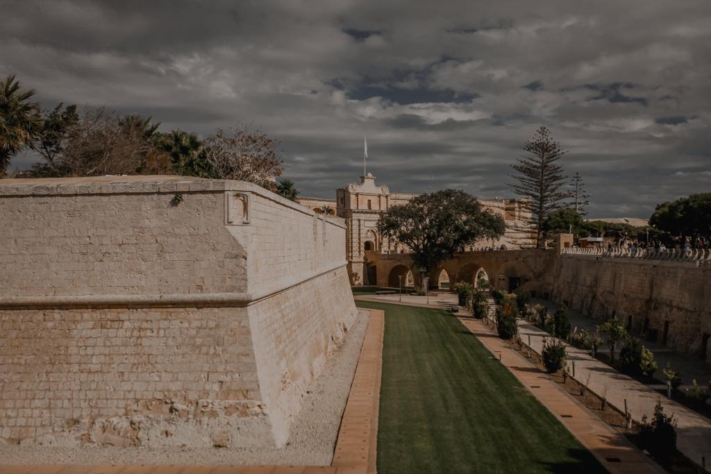 Mdina Malta, mury obronne