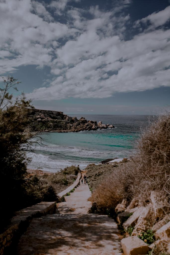 Najlepsza plaża na Malcie - Ghajn Tuffieha