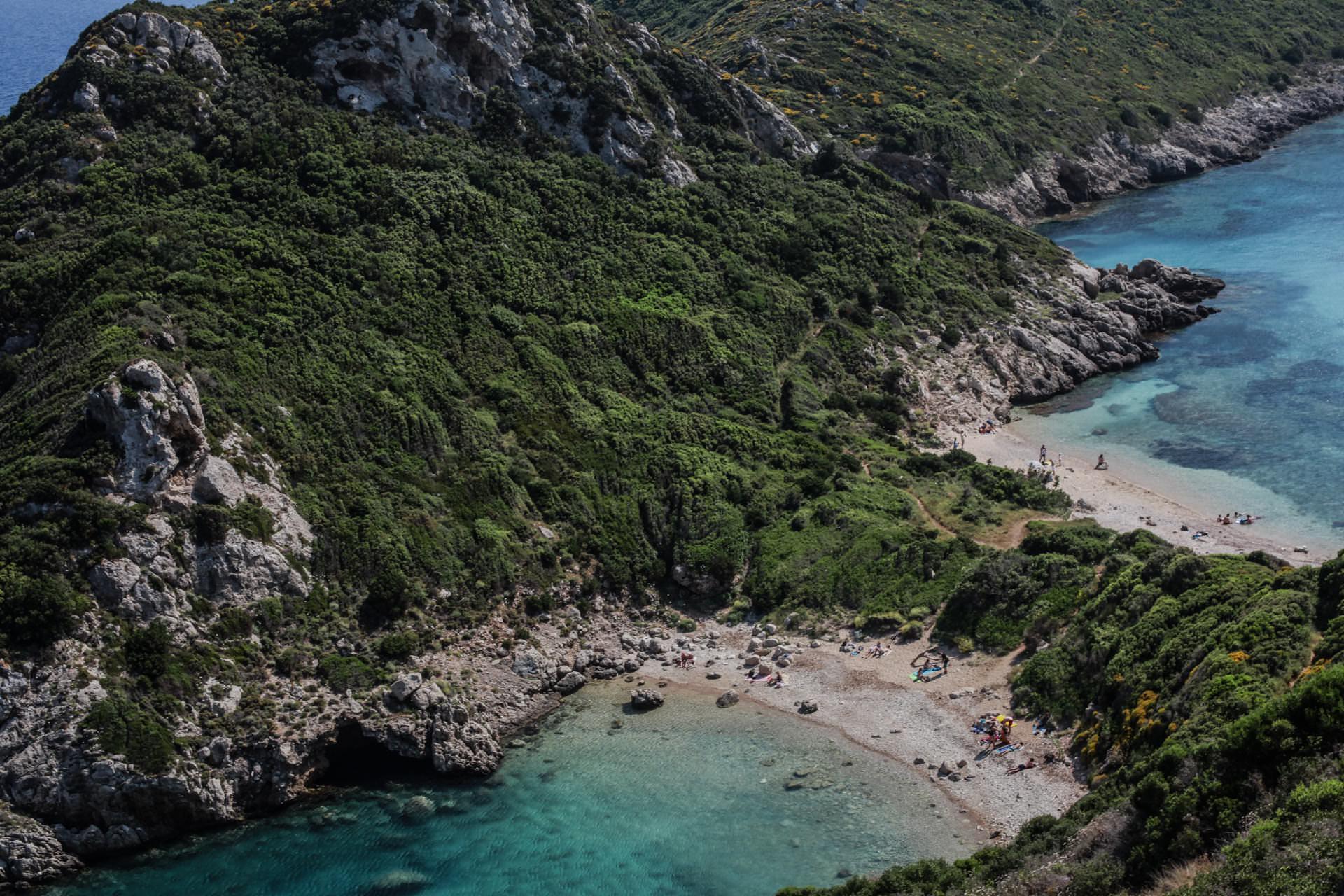 Korfu plaże