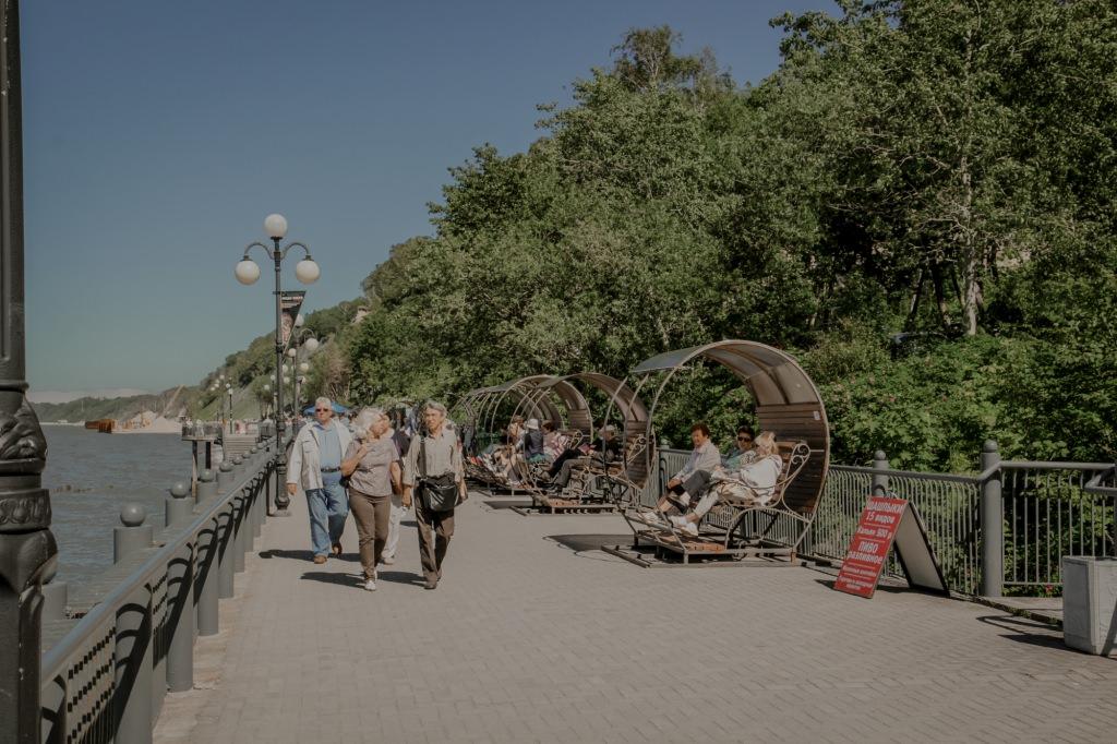 Swietłogorsk - promenada. Svetlogorsk