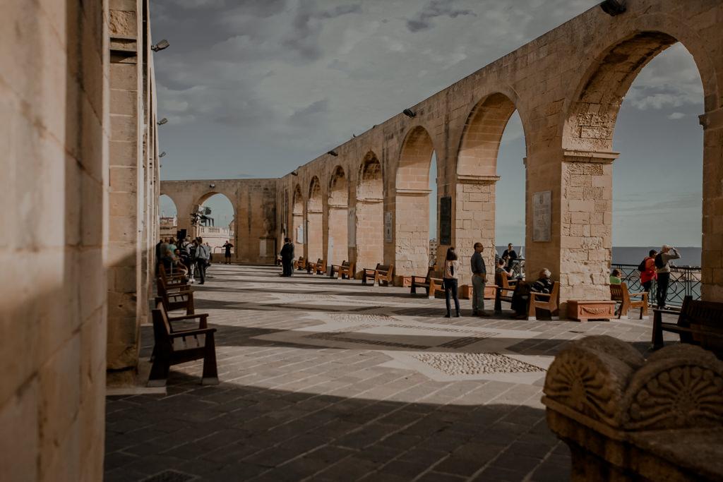 Valletta ogrody na Malcie